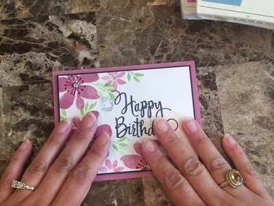 How to make a quick and easy Birthday card using Blooms and Wishes stamp set