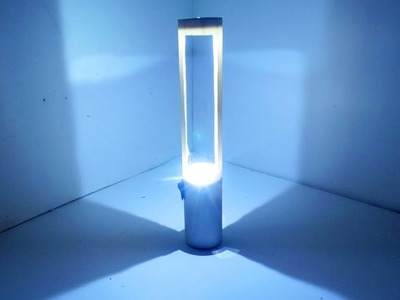 How To Make a Table Lamp With Plastic Pipe & LED।Table Lamp DIY।  Mad Tools