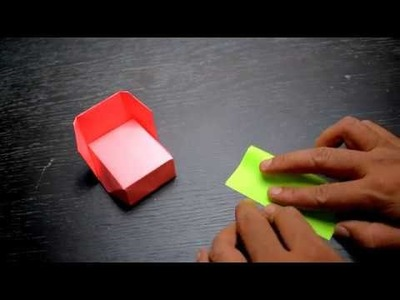 How to Make an Awesome Origami Bed-EASY Origami Things