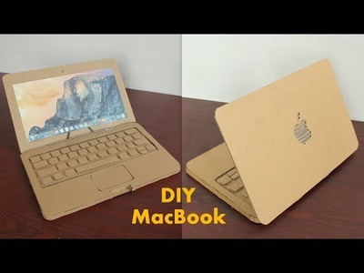 How to Make Apple Laptop With Cardboard at Home - DIY Laptop for Kids