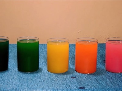 How to Make Color Candles at Home(inside glass containers)