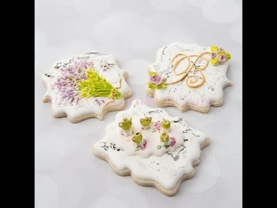 How to Make Dimensional Stone Marble Cookies ????????????