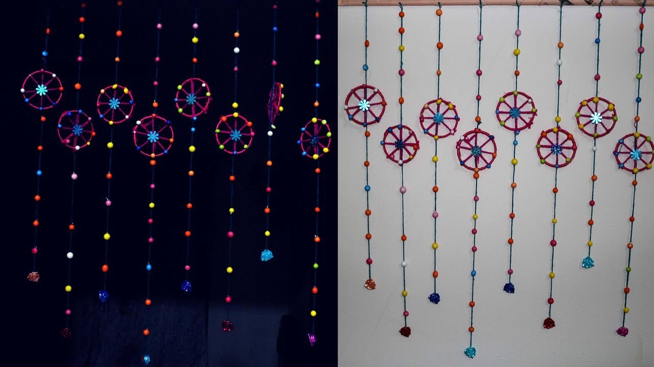 How to make door wall hangings for home decoration make for Waste bangles wall hanging