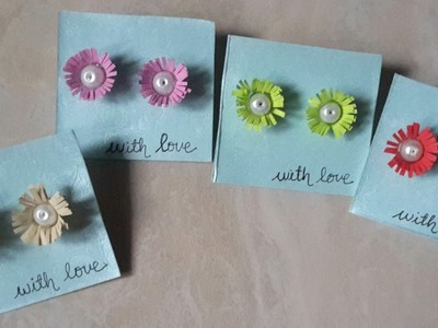 How to make easy flower earrings