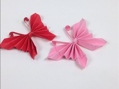 How to Make Easy Origami Paper Butterflies???? - DIY | A Very Simple Butterfly ???? for Beginners Making