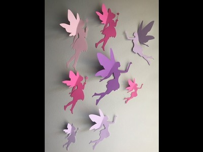 How to Make Fairy for walls-origami paper fairy for wall-most Easy way;DIY video