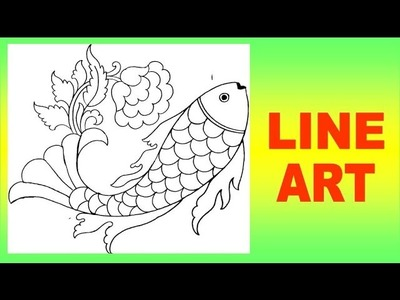 How To Make Fish Design On Tracing Paper | Line Art