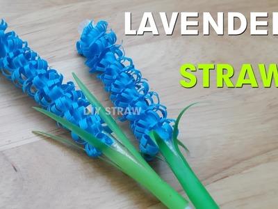 How to make flower straw - fold lavender flower with drinking straw | Diy art straws