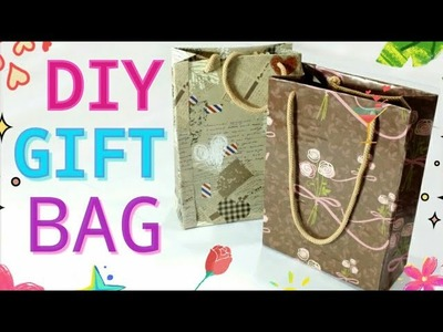 HOW TO MAKE GIFT BAGS .RECYCYLE OLD CEREAL BOXES INTO GIFT BAGS????️