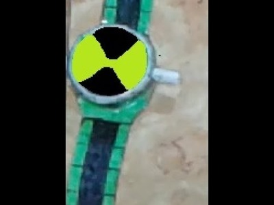 How to make (glowing ben 10 paper alien force watch) part(2)