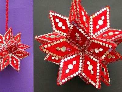 How To Make Hanging Star Using Cardbord    STAR HOME DECOR