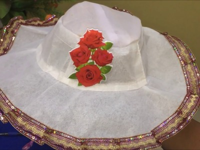 How to make hat at home for kids (HINDI)