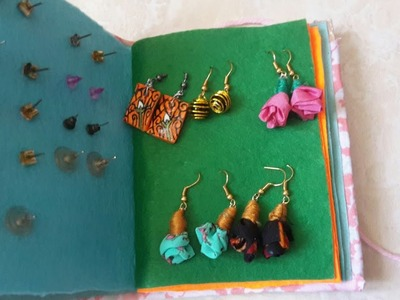 How to make jewellery book #jewellery organiser