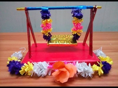 How to make Jhula or Palki ( simple ) for Lord Krishna
