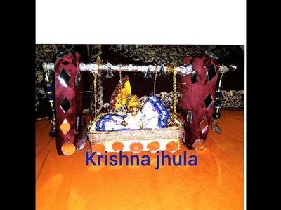 How to make .  Krishna ji ka jhula.  at home .beautiful design