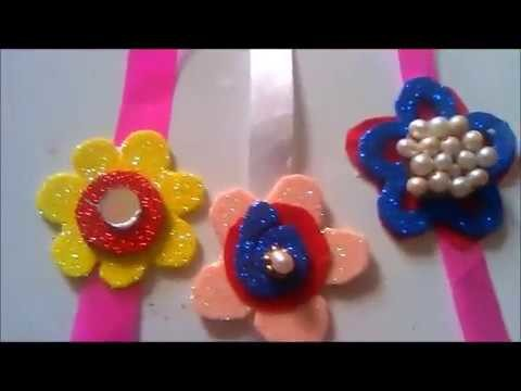 HOW TO MAKE  LATEST RAKHEE DESIGNS WITH GLITTER PAPER IN5 MINUTES.DIY RAKHI