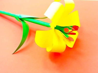How to Make Lily Flowers of Paper - How to Make Paper Flowers Easy - Paper Flowers Tutorial