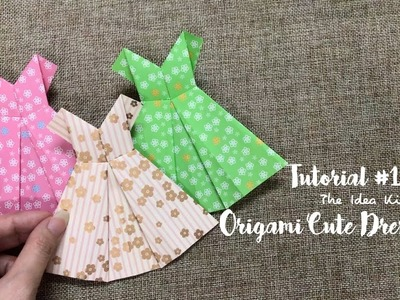 How to Make Origami Cute Dress Step by Step? | The Idea King Tutorial #12