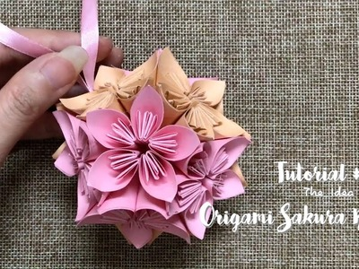 How to Make Origami Sakura Ball Step by Step? | The Idea King Tutorial #18