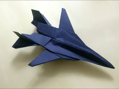 How To Make Paper Airplane - Cool Paper Plane Origami Jet Fighter   F-14 tomcat