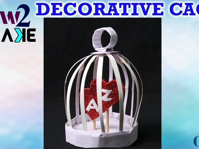 How to make Paper  Cage Decorative Crafts || DIY Crafts