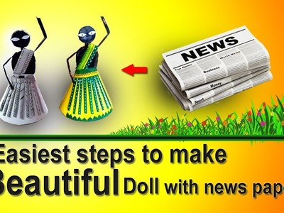 How to make paper doll: A beautiful traditional tribal dancing girl