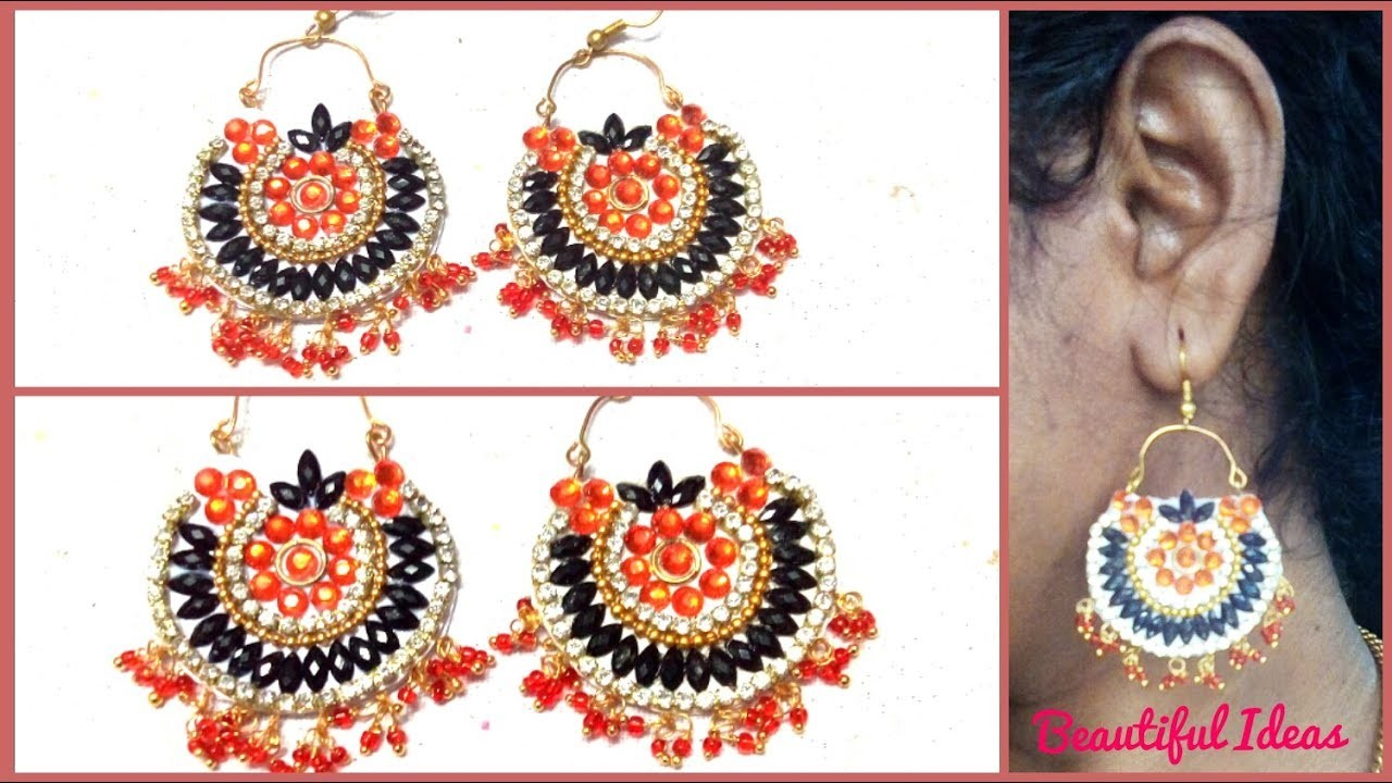 How to Make Paper Earrings.Latest Earrings Designs Making at Home. Paper Jewellery making at home.