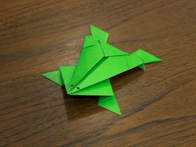how to make a paper frog easy