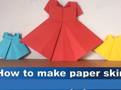 Origami How To Make Paper Skirt Origami Skirt How To Make Paper