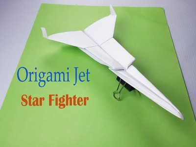 How To Make Paper Star Fighter Jet Easy Paper Plane Origami Jet Easy to made
