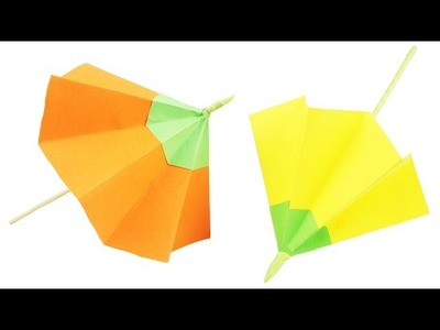 How To Make Paper Umbrella - Easy DIY Umbrella - TCraft