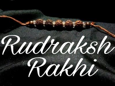 How to make Rakhi at home||Rudraksha Rakhi 03|| Raksha Bhandan