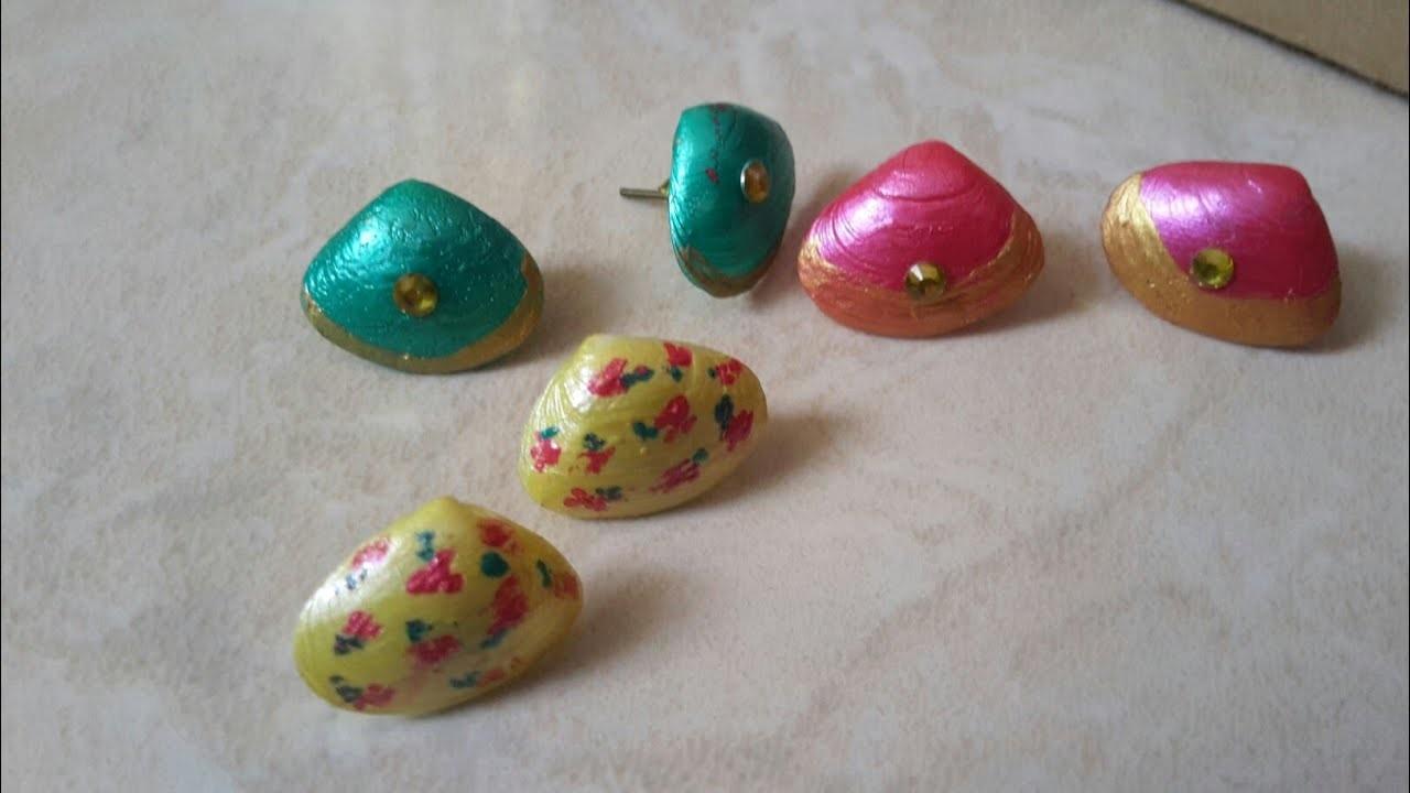 How to make sea shell earrings