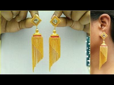 How To Make Silk Thread Earrings | Jewellery Making | DIY | +earring(earring) | diaries | pattern