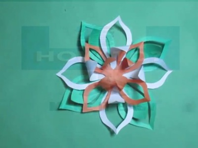 How to    make    simple    & easy    paper cutting flowers    step by step    designs    DIY   