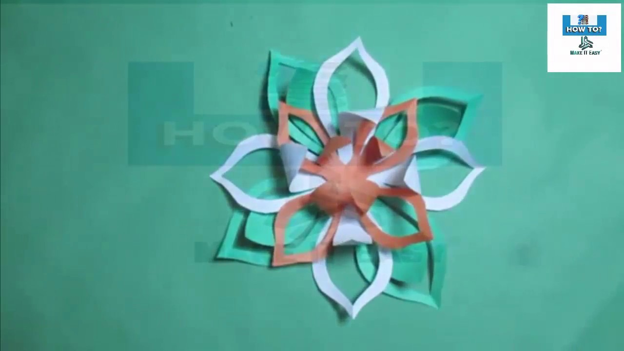 How to make simple easy paper cutting flowers step by step designs diy my for Easy paper cutting flowers