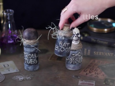 How to Make Spooky Witch's Jar.Bottle Potion Decorations