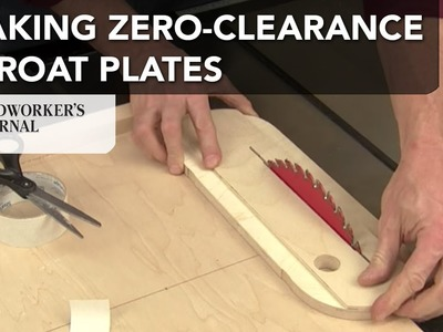 How to Make Zero Clearance Throat Plates