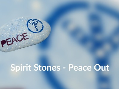 How to Paint Quick and Easy Spirit Stones - Peace Out