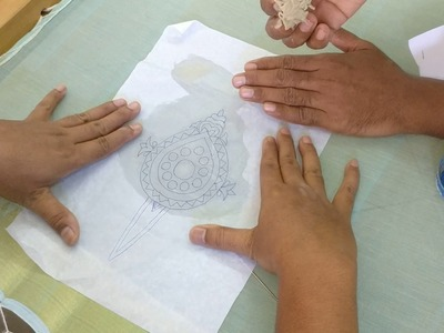 How to transfer embroidery design pattern onto the fabric