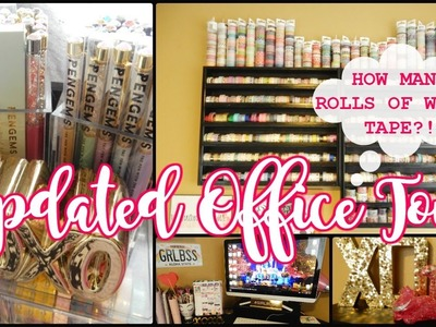 NEW HOUSE=NEW OFFICE! How many rolls of washi tape?!