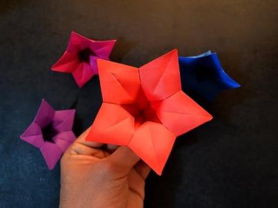 Flower origami bellflowerhow to make origami bellflowereasy how to make origami bellflowereasy mightylinksfo