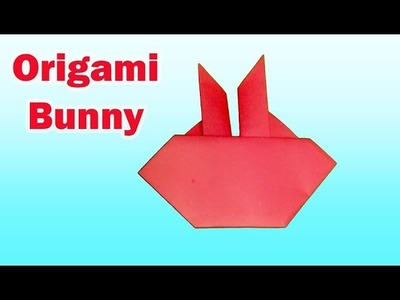 ORIGAMI BUNNY-How to Make an Simple Paper Easter Bunny.Origami Bunny Face.Rabbit Face for Kids Craft