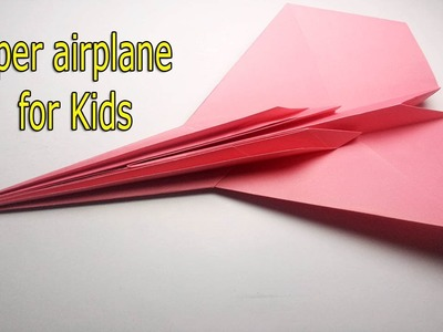 ORIGAMI PAPER JET - How to make a paper airplane  for Kids  F-14 Tomcat
