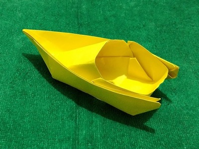 Origami Speed Boat; How to Make Origami Paper Speed Boat Step by Step HD