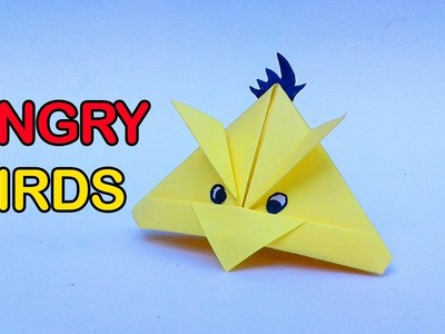 Paper Angry Bird-Origami Angry Yellow Bird | Diy paper Angry birds tutorials