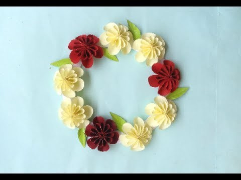 Paper flower Origami | DIY Wall decoration using paper
