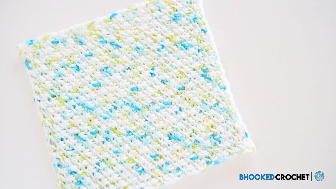 Pattern, Tunisian Crochet Washcloth Series: Pattern One Left Handed ...