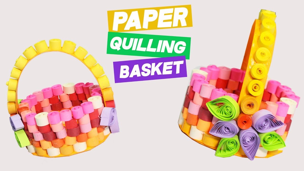 3 Minute Crafts Diy Paper Quilling Basket With Quilled Flowers