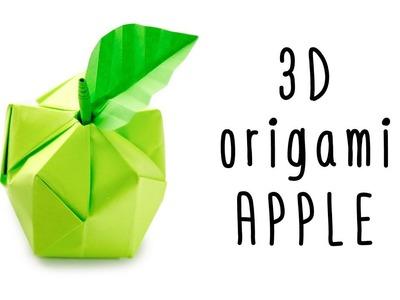 3D Origami Apple Tutorial ♥︎ Origami Fruit ♥︎ Paper Kawaii